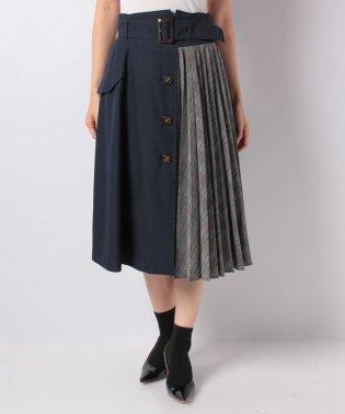 【andGIRL 12月号掲載/andGIRL 11月号掲載】サイドプリーツトレンチスカート