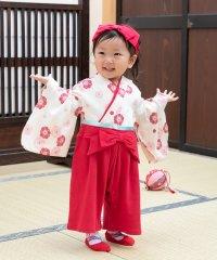 女児袴カバーオール