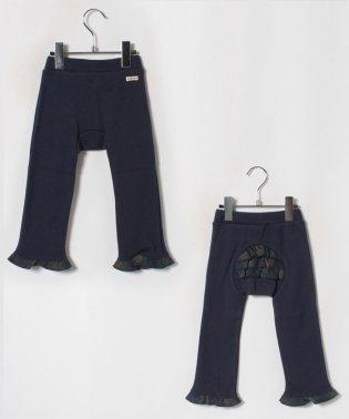 ブラックウォッチ柄のフリル付きベビーパンツ(70~90cm)