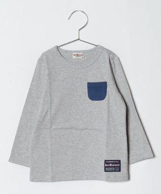 ポケット付き 長袖Tシャツ(70~110cm)