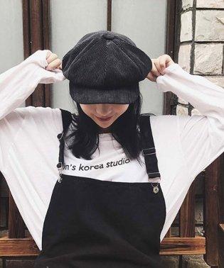 キャスケット帽 レディース 秋冬 コーデュロイキャップ 無地 つば付き 帽子 小顔効果