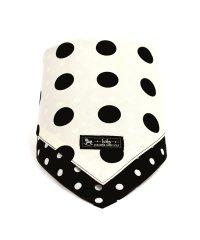 スタイ ハンカチタイプ polkadotlarge(broadcloth・white)×水玉・ブラック