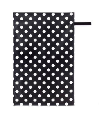 おむつ替えシート polkadotlarge(broadcloth・black)
