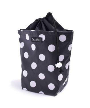 消臭おむつポーチ 巾着タイプ polkadotlarge(broadcloth・black)