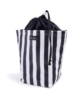 消臭おむつポーチ 巾着タイプ widestripe(broadcloth・black)