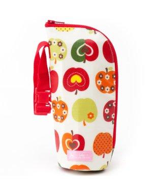 哺乳瓶ケース・ポーチ おしゃれリンゴのひみつ(スケアー地・アイボリー) つや消しビニールコーティング