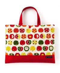 【通園・通学】レッスンバッグ キルティング(ループ付き) おしゃれリンゴのひみつ(アイボリー)