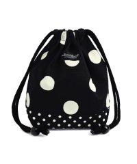 【通園・通学】decorPolkaDot 巾着 小 コップ袋 polkadotlarge(twill・black)xpolkadotsmall(twill・bl