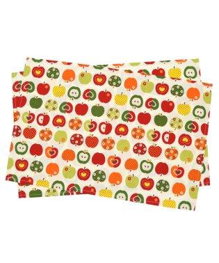 【入学・入園グッズ】ランチョンマット ラージタイプ おしゃれリンゴのひみつ(アイボリー)