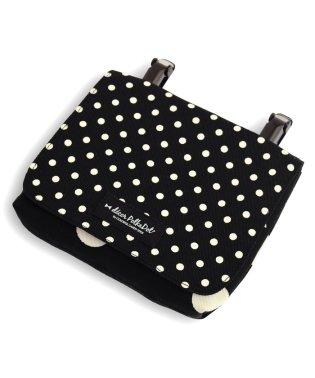 【通園・通学】decorPolkaDot移動ポケット・付けポケット【ラージ】polkadotlarge(twill・black)xpolkadotsmall(t