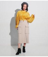 カシミアタッチカーゴポケットスカート