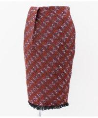 オルテガジャガード裾フリンジスカート