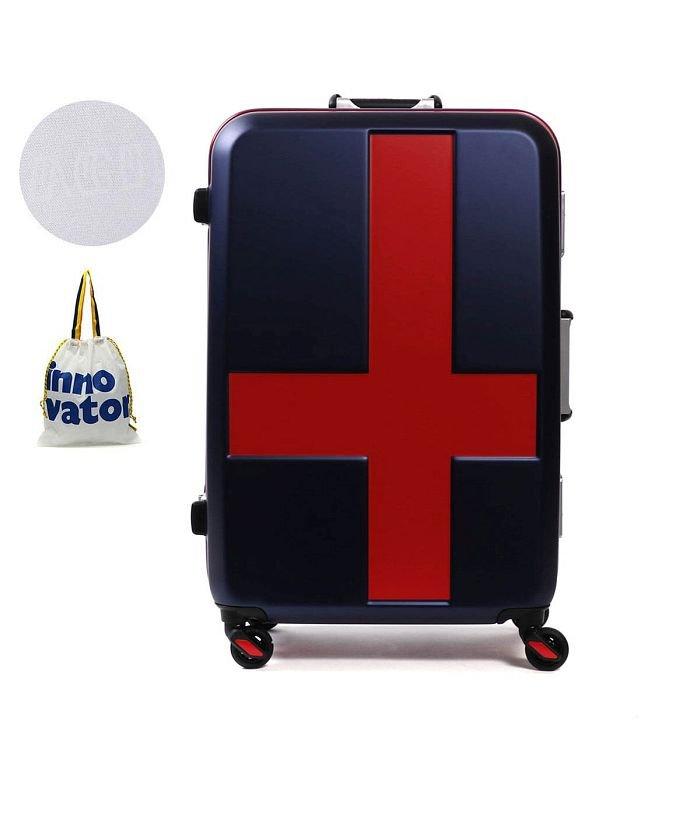 (innovator/イノベーター)イノベーター スーツケース innovator キャリーケース フレーム 軽量 旅行 INV58T(60L 3〜5日 Mサイズ)/ユニセックス ネイビー