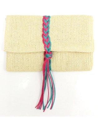 編み紐デザインクラッチバッグ