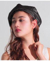 グロッシーサテンベレー帽