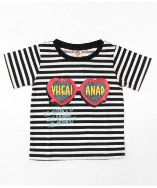 ハートサングラスプリントTシャツ