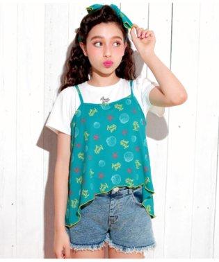 オリジナルシェル柄Tシャツ&キャミソールSET
