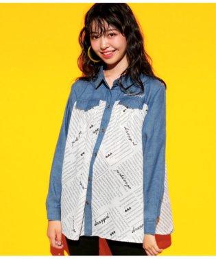 オリジナル英字プリントシャツ