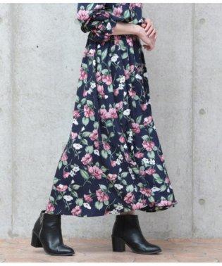 柄デシンマキシスカート