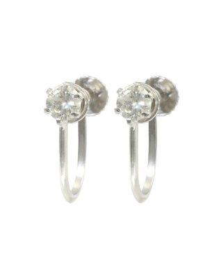 贅沢なPtイヤリング!Pt999/Pt900 天然ダイヤモンド 計0.2ct プラチナ6本爪イヤリング 耳元を艶やかに演出♪