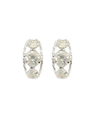 限定数☆おすすめ!高級K18 天然ダイヤモンド0.3ct 耳元をエレガントに演出するローブピアス【K18WG ホワイトゴールド】