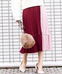【泉里香ちゃん着用】配色プリーツスカート