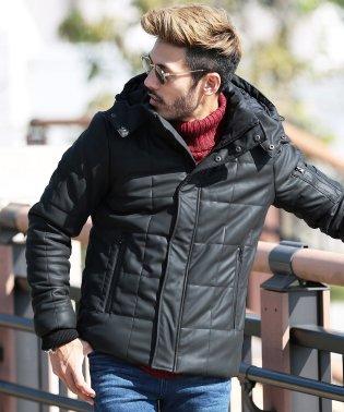 スクエアキルティング 中綿 ブルゾン / 中綿ブルゾン 中綿ジャケット 軽量 防寒 ストレッチ アウター ジャケット
