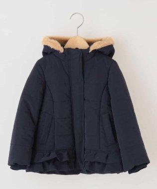 [140-150]【洗える】フリル中綿フードコート