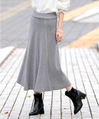 リブニットAラインスカート