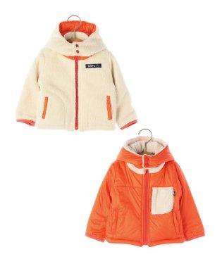 SHIPS KIDS:ボア リバーシブル フード ジャケット(80~90cm)