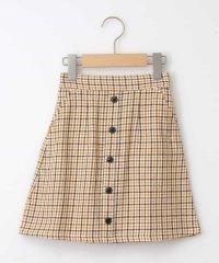 [100-130]チェックフロントボタンスカート[WEB限定サイズ]
