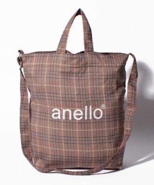 【anello】AI-C2553 チェック柄 2WAYトートバッグ