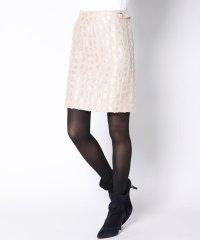 【3サイズ展開】メルティジャガード台形ミニスカート