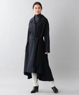 <BLUEFLAG+kiminori morishita>バックプリーツバルマカーンコート