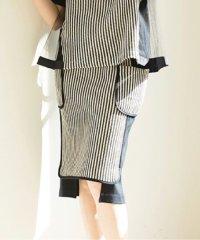 【セットアップ対応商品】【RAW FUDGE】チェーンラッセル×パールニットスカート