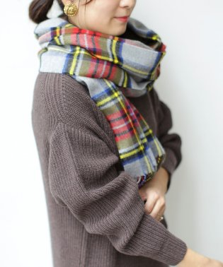 【GLOW 1月号掲載】Made in JAPAN WOOL100%チェックストール
