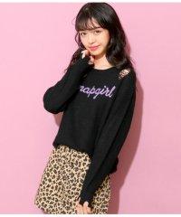 ダメージロゴ刺繍セーター