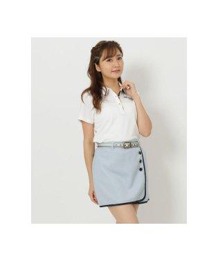 ストレッチ素材ポイントストライプデザインポロシャツ