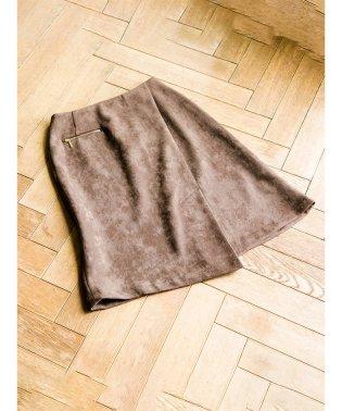 スエードボンディングラップスカート