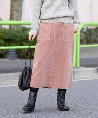liflattie ships:コーデュロイスカート pink・green◇