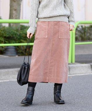 《一部予約》liflattie ships:コーデュロイスカート pink・green◆
