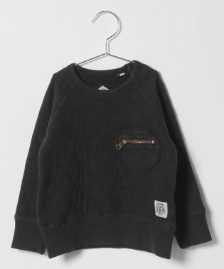 QUILT ZIP POCKET SWEAT