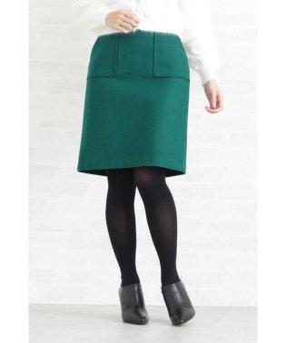 レザーリボンポケットタイトスカート