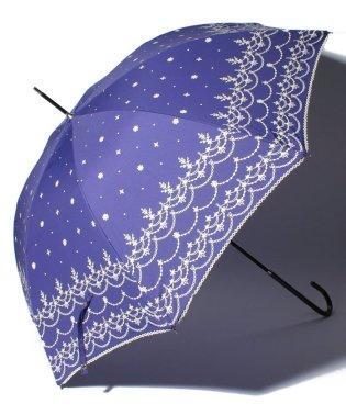 スカラップレース柄長傘 雨傘