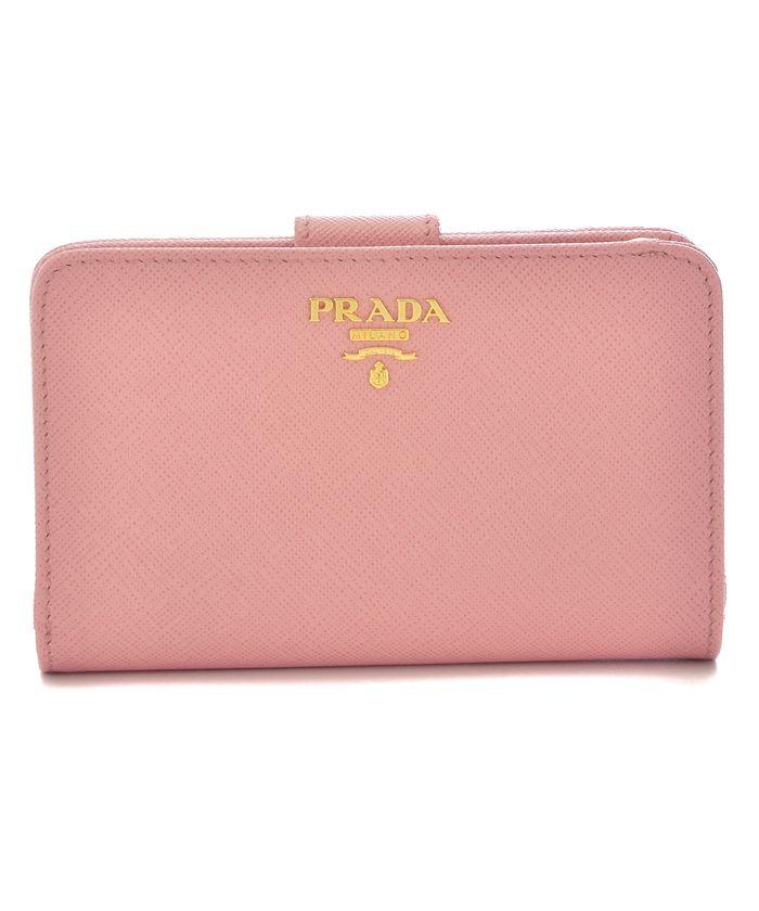 【PRADA】二つ折り財布 / SAF.METAL ORO 【PETALO】