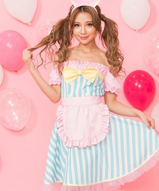 costume【コスチューム】 ミルキーパティシエ3点セット(エプロン、ワンピース、カチューシャ)