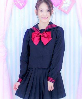 costume【コスチューム】 リボンセーラー 3点セット(ブラウス、スカート、スカーフ )