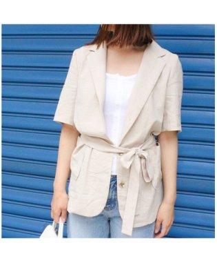 ベルト付き半袖ジャケット