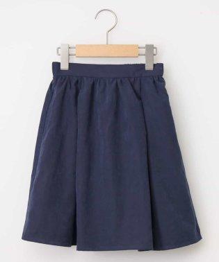 [100-130]ポケット付きマットギャザースカート[WEB限定サイズ]