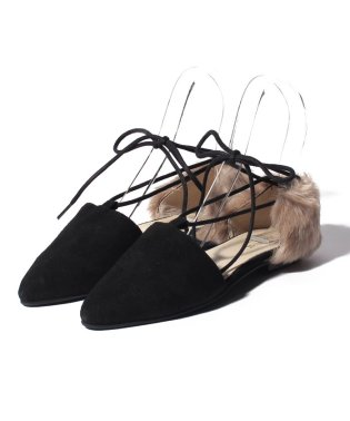 【khaju】HERMONT:FUR LACE UP SHOES